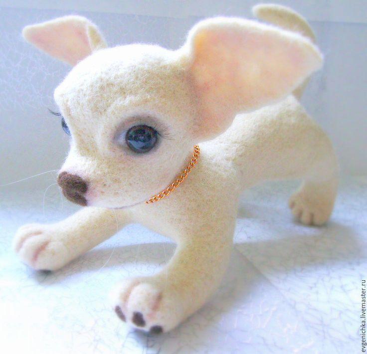 Купить Чихуашка - белый, чихуахуа, чихуа, чихуашка, собака, щенок, игрушка в подарок, игрушка