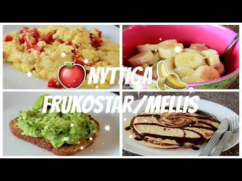 Nyttiga frukostar/mellis!   omelett, proteinpannkakor, avokadomacka, chiapudding - YouTube