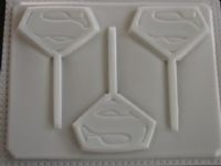Superman Lollipop MoldLollipops Moldings, Cake Cak Pop, Superman Lollipops