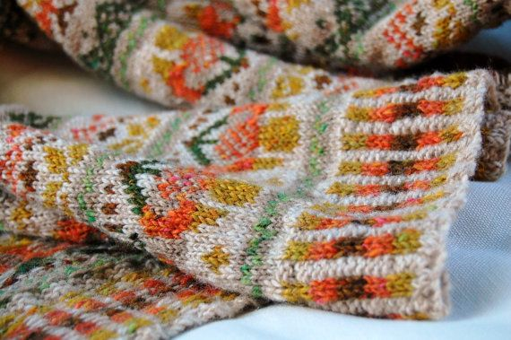 Fair Isle Scarf Reserved Listing by helengraydesigns on Etsy