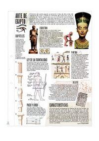 Arte de Egipto  #infografia. #Arte