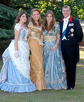 Princesses Beatrice & Eugenie, Prince Andrew & Sarah Ferguson Princess Beatrice chose to celebrate her 18th birthday in style