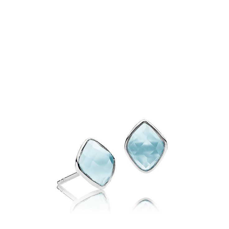 PRECIOUS earrings with beautiful skyblue chalcedonys. The earrings are made of shiny white sterling silver – Danish design jewelry by Izabel Camille. Price: EUR 54 No. A1413sws-blue CL  www.izabelcamille.com