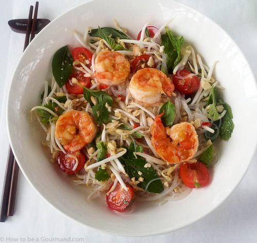 A great recipe for Glass Noodle Salad with Caramelized Prawns from Jacqueline Roll.