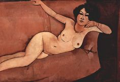 Amedeo Modigliani Modern Art - Act on a sofa                                                                                                                                                                                 More
