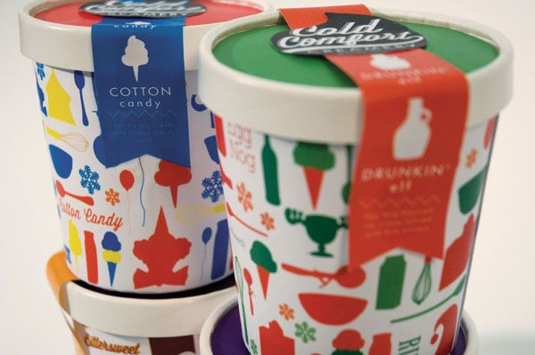 Cold Comfort Creamery Ice Cream Packaging 30+ Cool Ice Cream Packaging Designs For Inspiration