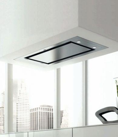 Hotte de plafond design blanche