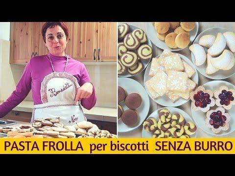 BISCOTTI BICOLORE di PASTA FROLLA SENZA BURRO - 3 idee semplici - YouTube