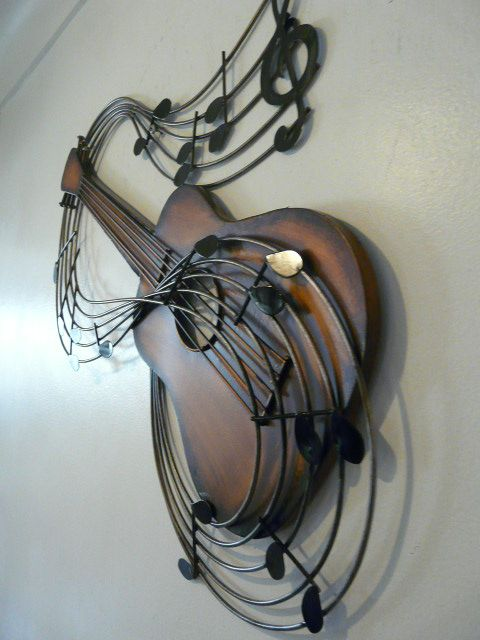 Musical Metal Sculptures Contemporary Wall Art Small Guitar Pinterest And