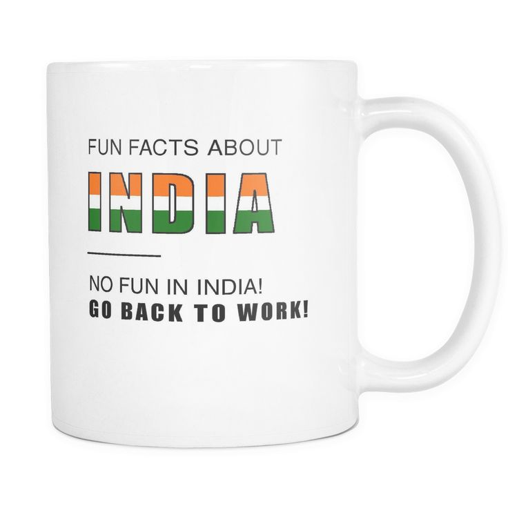 Fun facts about India - No fun, Go Back to work! 11oz mug