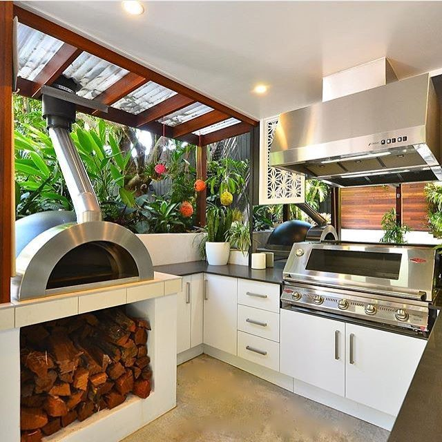 219 best home outdoor living kitchens images on pinterest outdoor rooms outdoor spaces on outdoor kitchen id=51764