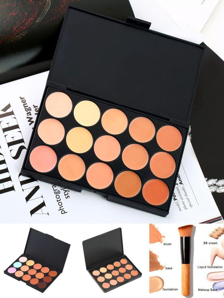 [Visit to Buy] 15 Color Professional Facial Concealer Camouflage Contour Palette Salon Face Corrector Cosmetic Beauty Makeup Tools Palette #Advertisement