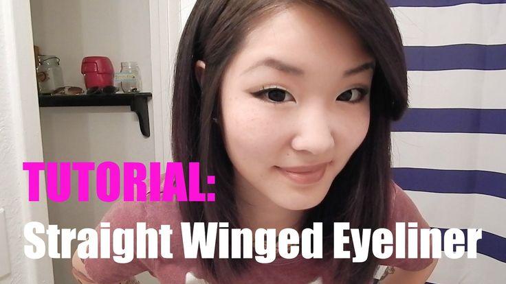 Straight Winged Eyeliner