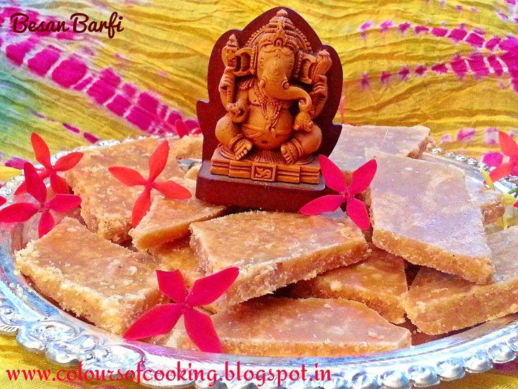 Besan Barfi for Ganesh Chaturthi.