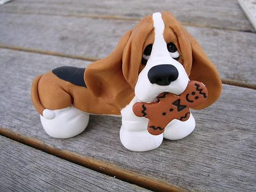 bassetcookie by claykeepsakes, via Flickr