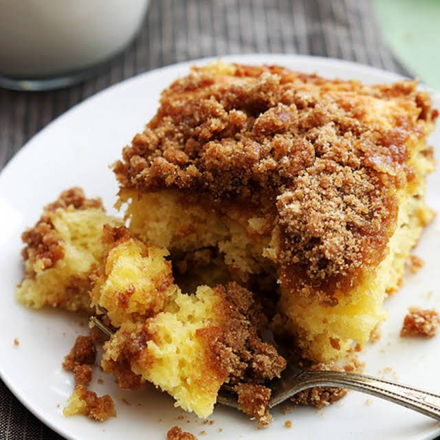 Cake Mix Sour Cream Coffee Cake Recipe Yummly Recipe In 2020 Coffee Cake Coffee Cake Recipes Cake Mix