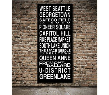 Seattle Destination Roll / Subway Scroll / Tram Banner / Bus Schedule 28in x 64in - Ready to Hang. $199.00, via Etsy.