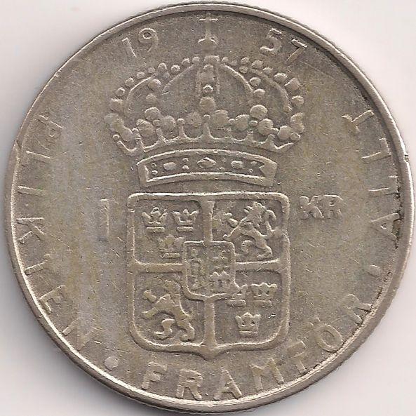 Wertseite: Münze-Europa-Nordeuropa-Schweden-Krona-1.00-1952-1968