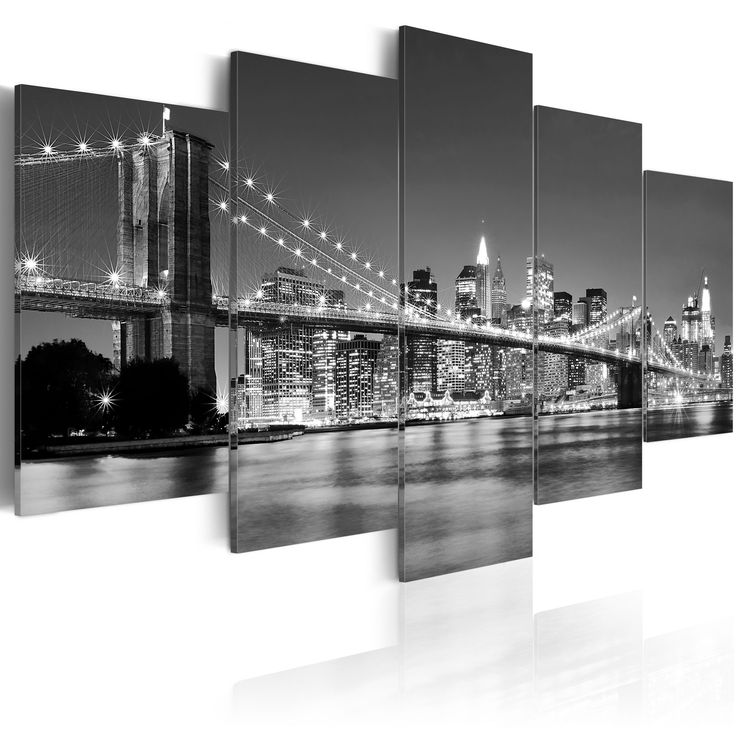 Obraz New York #newyork #city #street #view #bridge #most #panorama #widok #obraz