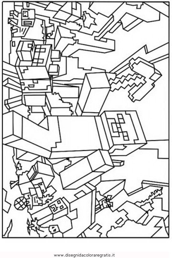 Disegni da colorare di minecraft da geometric for Disegni da colorare minecraft