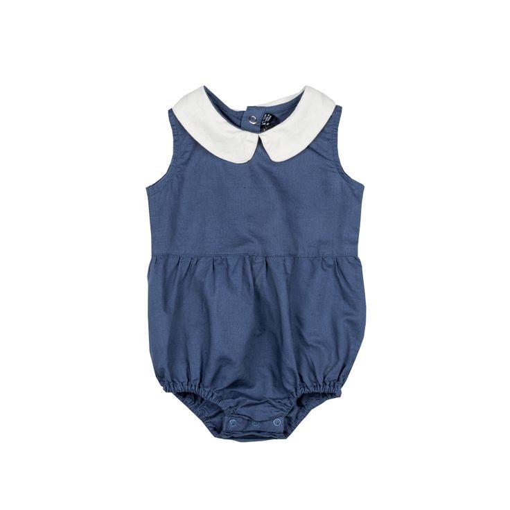 Rock Your Baby - Peter Pan Romper In Blue