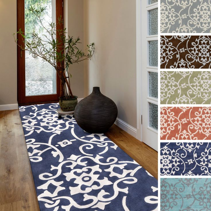 Hand Tufted Floral Contemporary Runner Rug 2 6 X 8