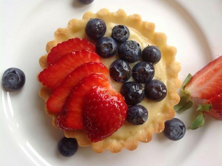 Ovocné tartaletky s krémem patisserie / Fruit tartlets with creme patisserie