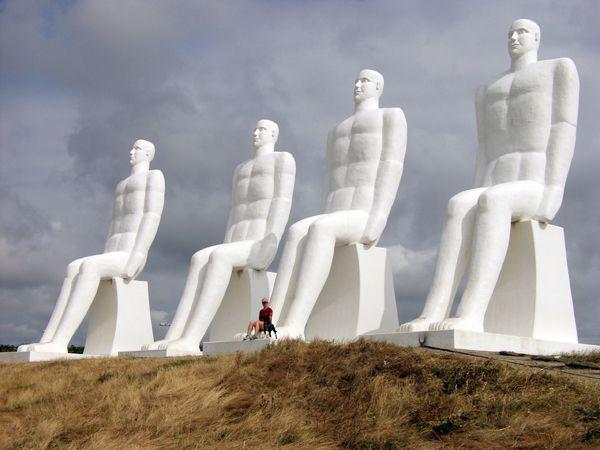 Sculpture West Jutland Denmark Photo The Great Danes