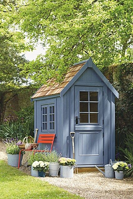 Small Wooden Shed from Posh Sheds. Garden Shed Ideas and inspiration. Garden and potting sheds - plastic, metal and wooden - to inspire.