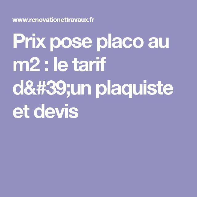Prix pose placo au m2 : le tarif d'un plaquiste et devis