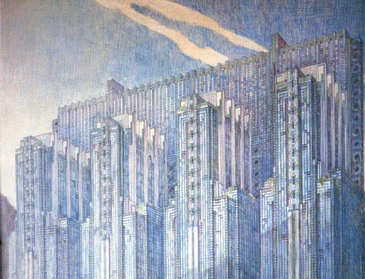 Poco podríamos agregar sobre la inconfundible calidad decimonónica de los croquis de Wright. Mucho para aprender, un aire moderno que no ...