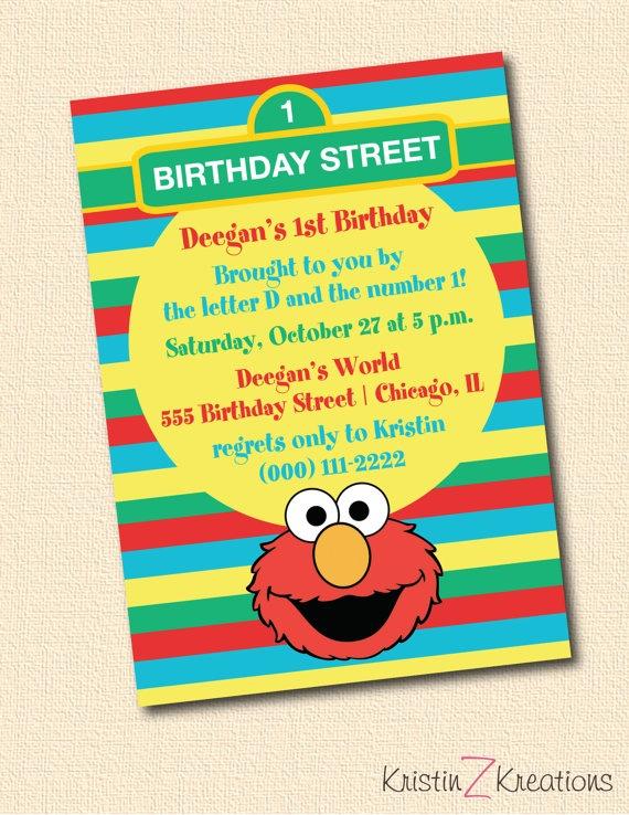 58 best Birthday Invitations images – Custom Elmo Birthday Invitations