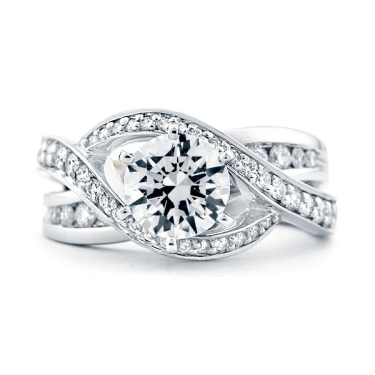 Mark Schneider Bedazzle 1.67cttw freeform diamond engagement ring from Mullen Jewelers