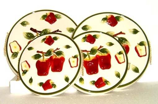 83 best apple kitchen decor images on pinterest kitchen for Red apple decorations for the kitchen