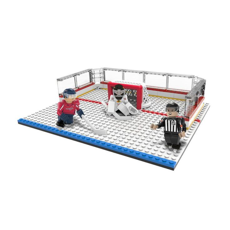 Oyo Sports NHL Buildable Playmaker Set - Corey Crawford (Goalie) Vs. Alex Ovechkin and NHL Referee