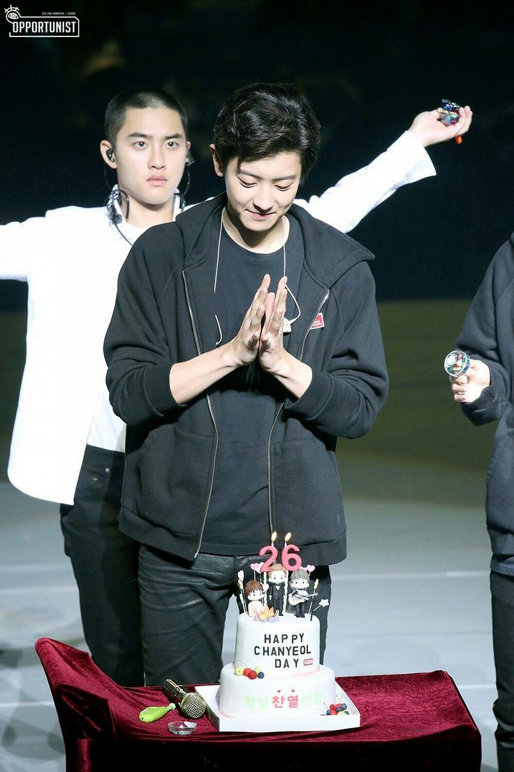ChAnyeol birthday celebration at elyxion concert 2017