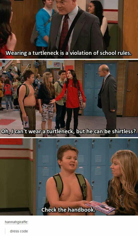 Lol pretty much how school dress code works