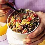 Southwestern Tabbouleh Salad Recipe | MyRecipes.com  Had this last night and it was SOOO good!   (Also, WholeFoods has it, so if you're in a hurry, stop in and grab some.)