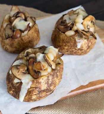 Loaded Baked Potato with Mushrooms | EarthFresh
