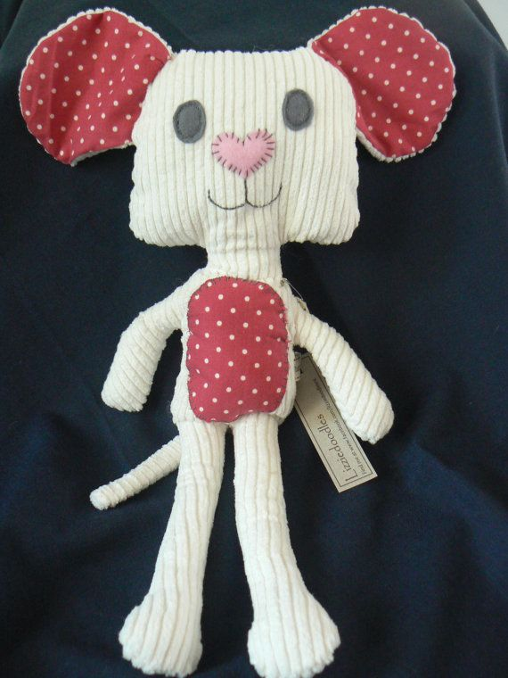 Soft Mouse Plush Doll available at www.etsy.com/lizziedoodlesnz