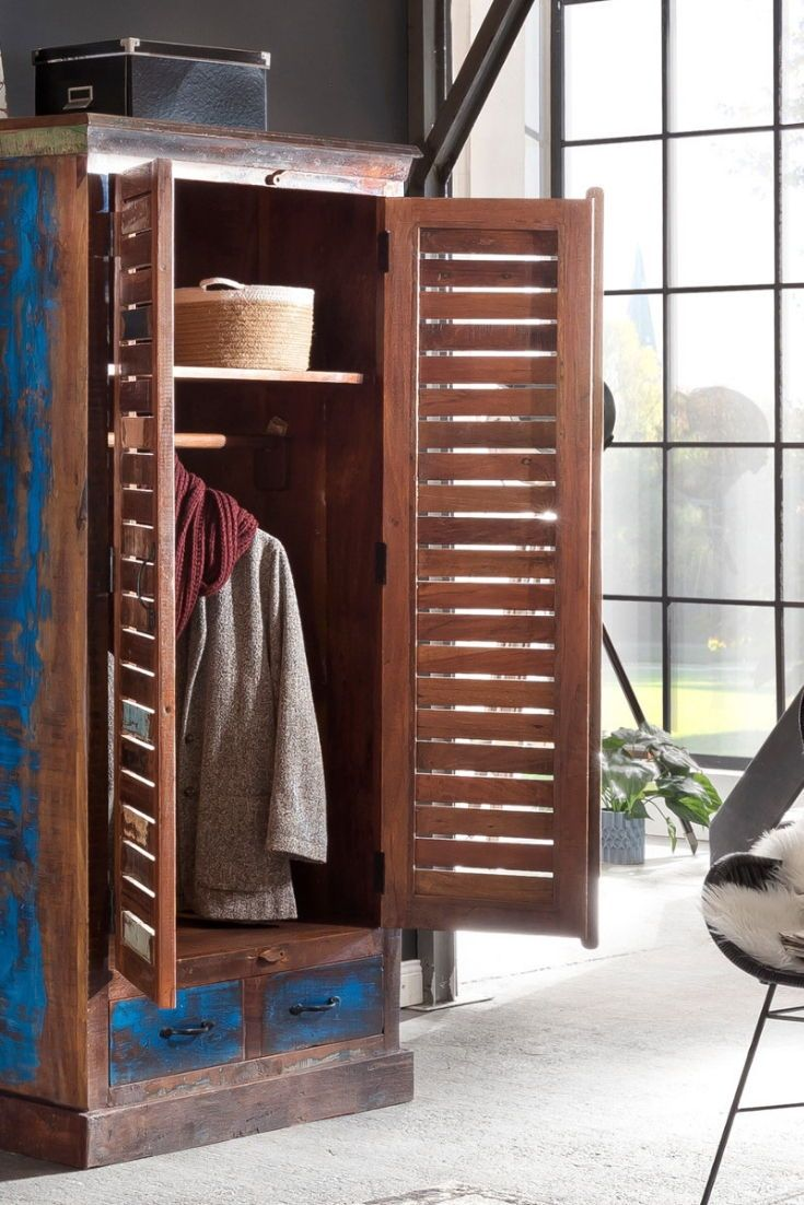 Kleiderschrank Wakefield Wiederverwertetes Holz Alte Mobel Schrank
