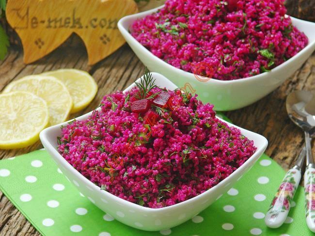Kırmızı Pancarlı Kısır Resimli Tarifi - Yemek Tarifleri