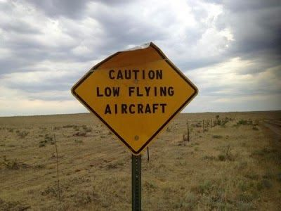 Funny Caution Low Flying Aircraft Sign Photograph                                                                                                                                                                                 More