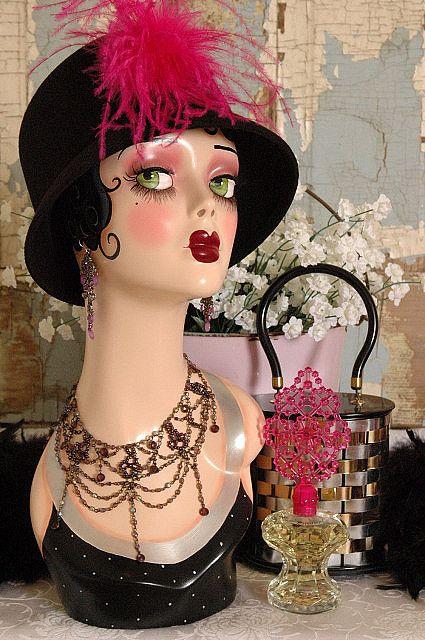 HATSTYLE | VINTAGE STYLE ART DECO FLAPPER MANNEQUIN HEAD by nostalgiccorner, via Flickr