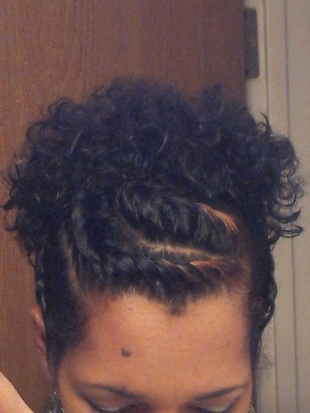 Flat twists with ponytail.very cute protective style