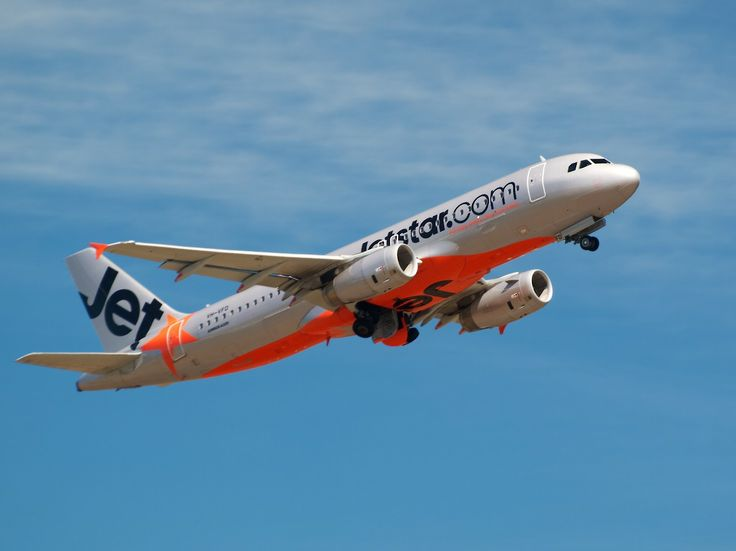 New Zealand Aircraft • Jetstar A320 leaving Christchurch Type: Airbus...