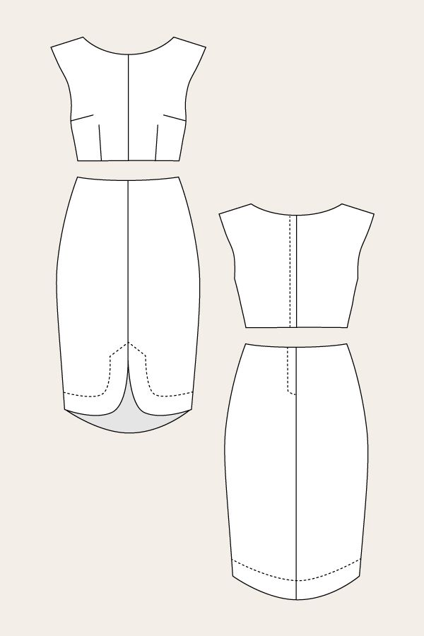 Vanamo Two-Piece Cocktail Dress