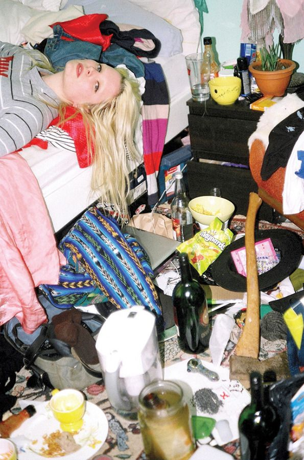 Girls have really messy rooms. Fact. Photographer Maya Fuhr investigates