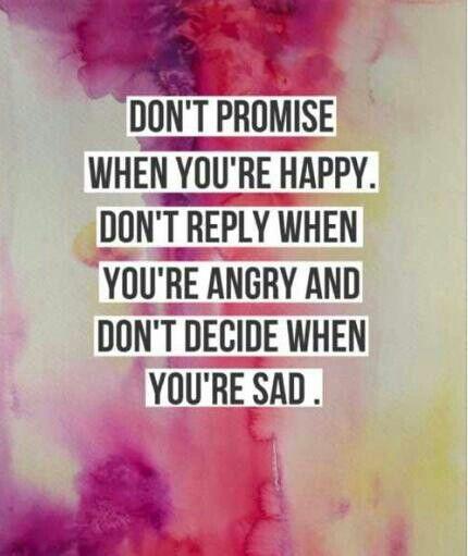 Don't let emotions decide