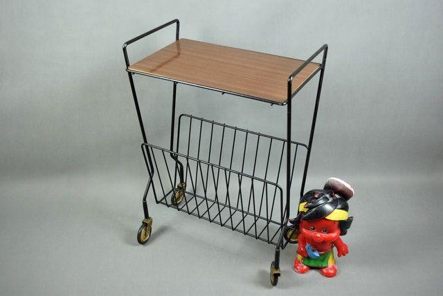 Vintage Bar Cart Tea Cart Serving Cart Magazine Cart Magazin